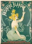 Chic French Nice Absinthe Shabby Metal Wall Plaque Sign